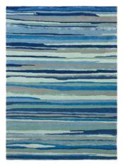 niebieski dywan w paski Elsdon Mineral 44008
