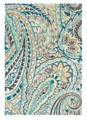 niebiesko beżowy dywan w kwiaty Kashmir Azure 46908