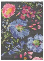 Niebiesko Różowy Dywan w Kwiaty - KIPPEN 18705