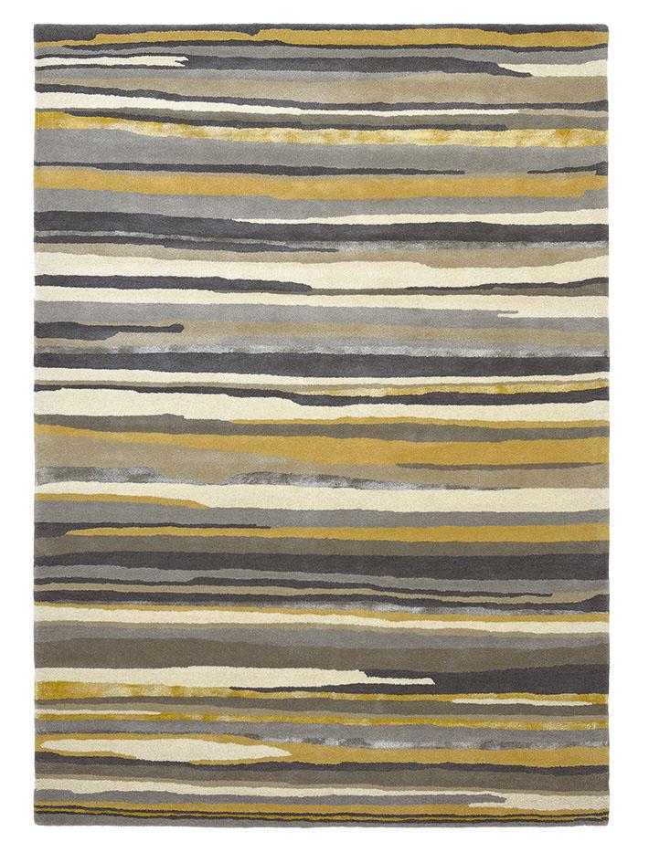 szaro żółty dywan w paski Elsdon Linden 44006