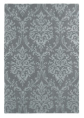szary dywan w ornament Riverside Damask Pewter 46705
