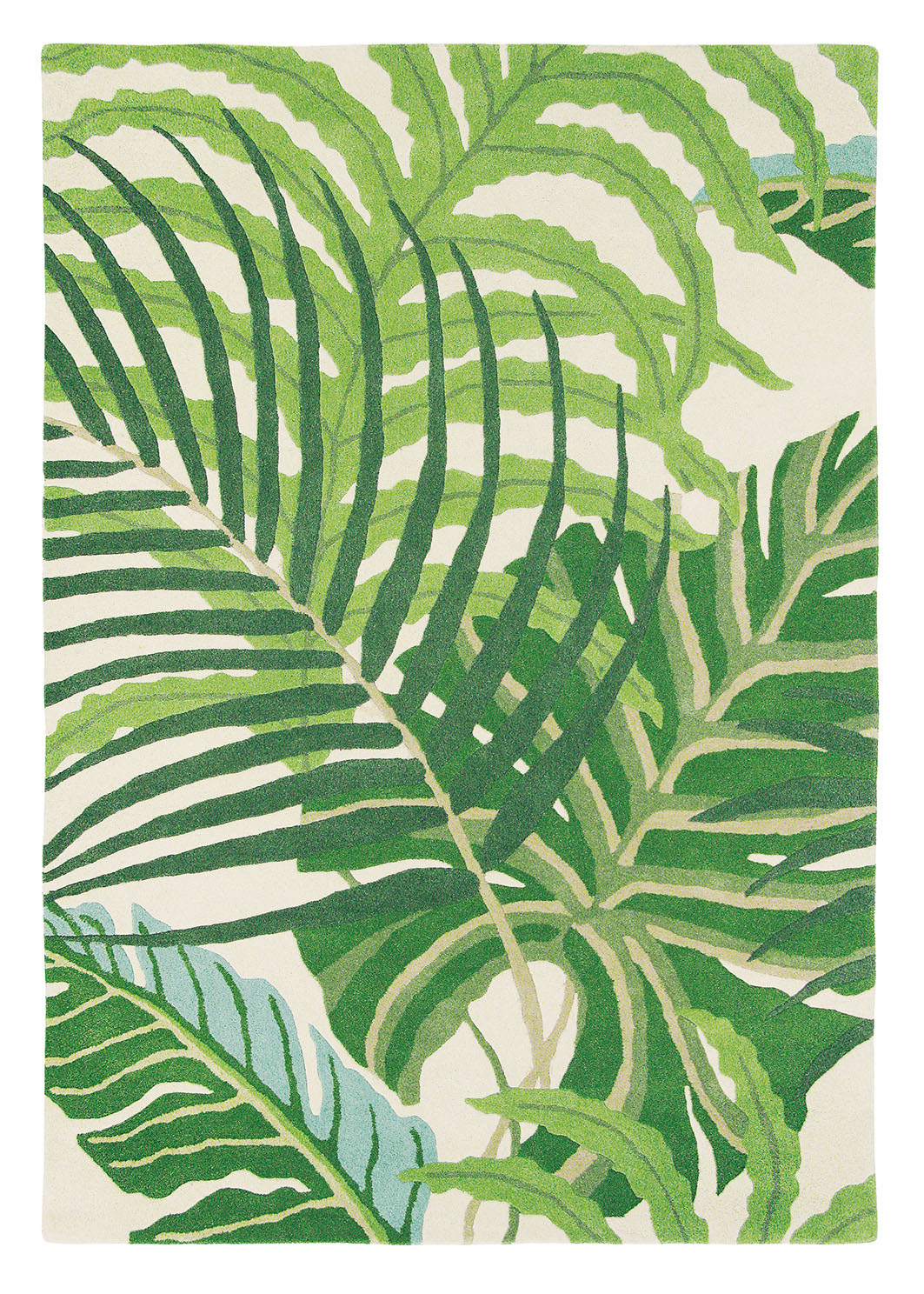zielony dywan w kwiaty Manila 46407