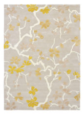 żółto szary dywan w kwiaty Anthea Saffron 47106