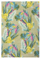 Żółto Zielony Dywan w Kwiaty - JUNGLE 18307