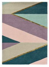 beżowo fioletowy dywan geometryczny Sahara Pink 56102