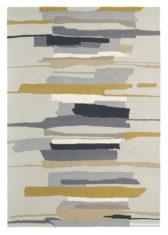 beżowo szary dywan artystyczny Zeal Pewter 43004