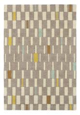 beżowo szary dywan geometryczny Blok Dandelion 24101