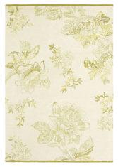 beżowo złoty dywan w kwiaty Tonquin Cream 37009