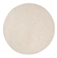 Beżowy Dywan Okrągły - FOLIA ROUND STONE 38301