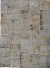 beżowy dywan perski Patchwork Beige 1020
