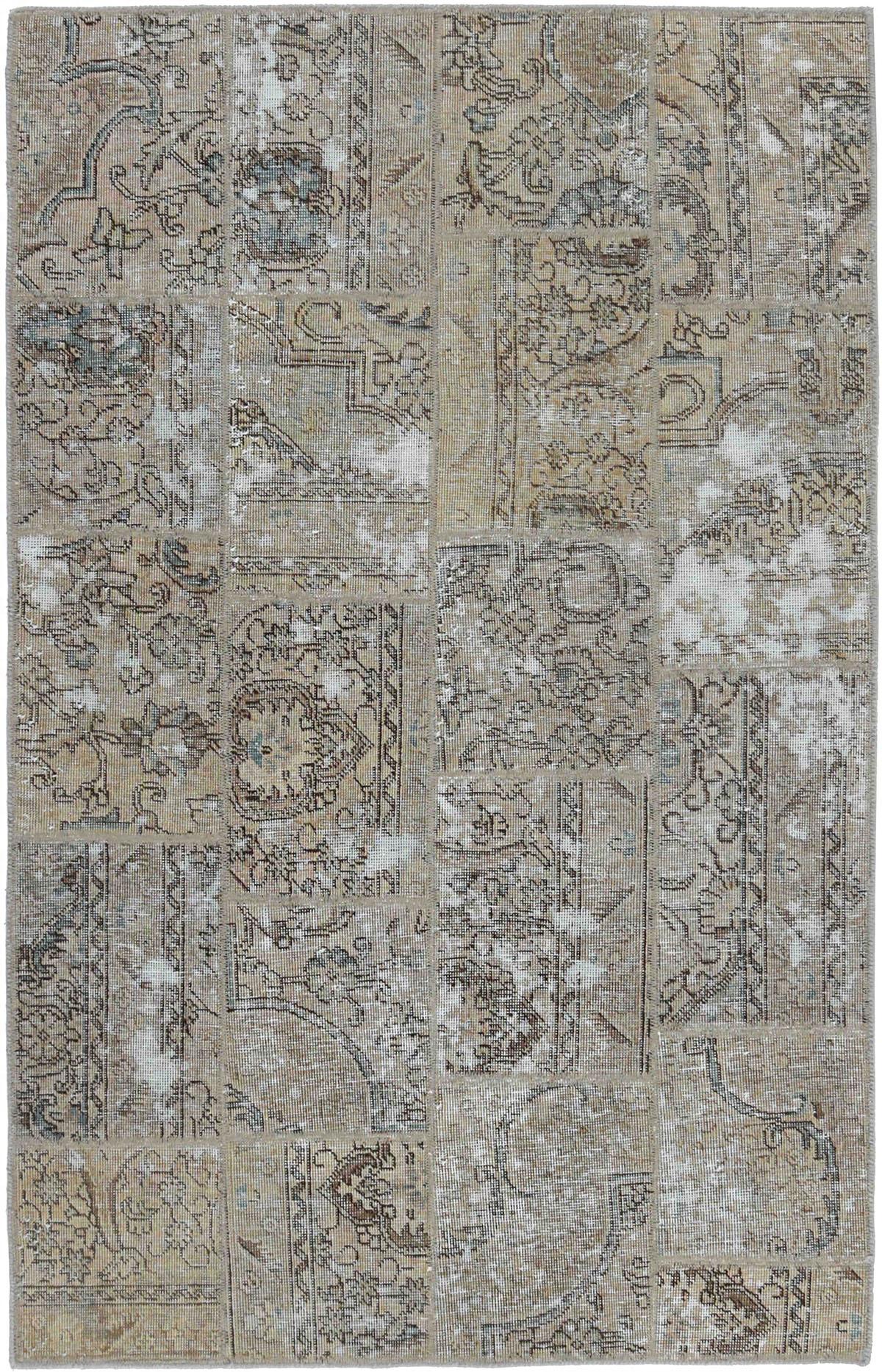 beżowy dywan perski Patchwork Mosaic 1009