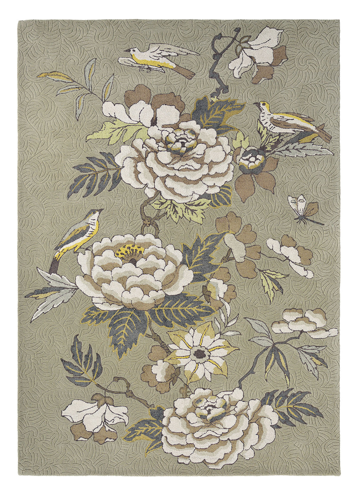 beżowy dywan w kwiaty Paeonia Neutral 37904