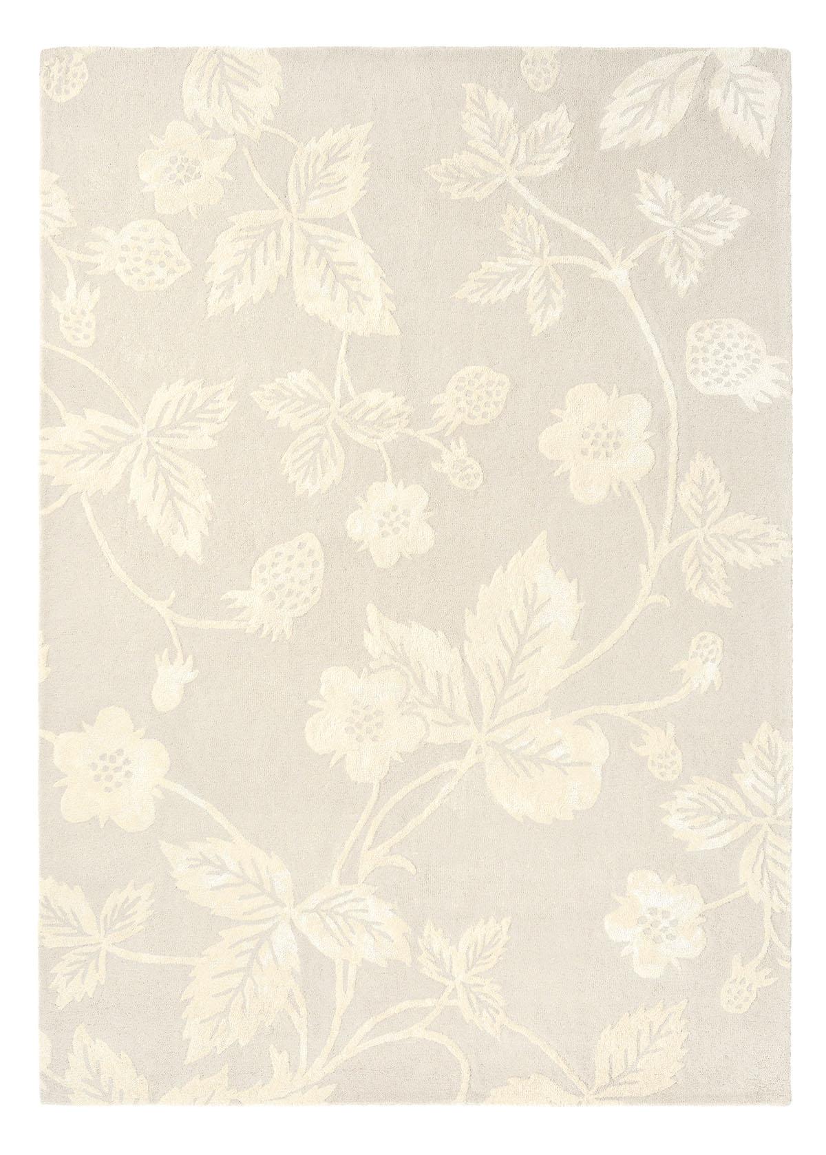 beżowy dywan w kwiaty Wild Strawberry Tonal 38201