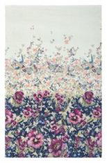 biało różowy dywan w kwiaty Gorse Pale Blue 57705
