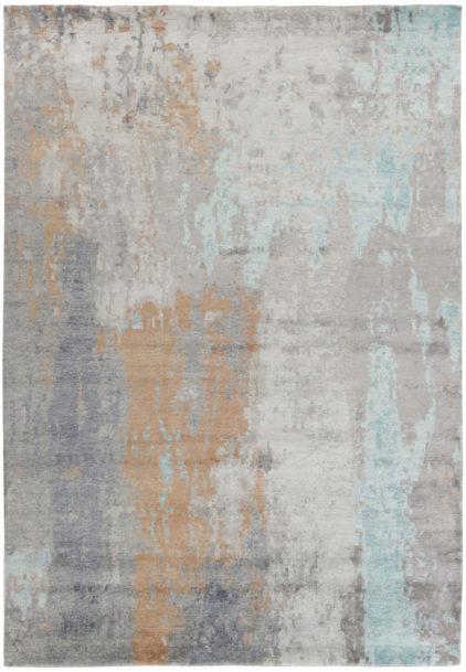 błękitno brązowy dywan ekskluzywny Attraction No 1 8094