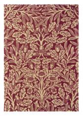 bordowy dywan w kwiaty Oak Crimson 27900