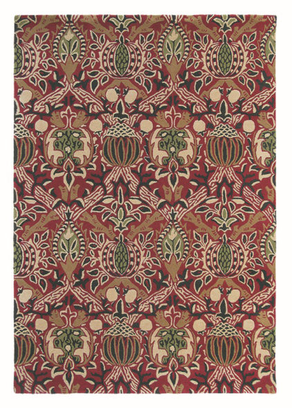 bordowy dywan w ornament Granada Red Black 27600