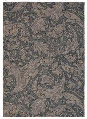Brązowy Dywan w Kwiaty - BACHELORS BUTTON CHARCOAL 28205 - widok z góry