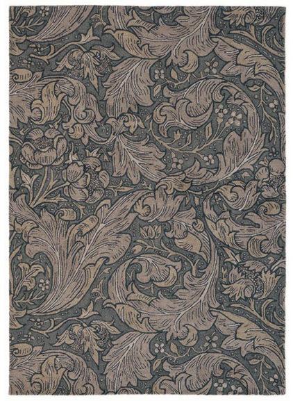 brązowy dywan w kwiaty Bachelors Button Charcoal 28205