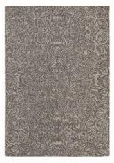 brązowy dywan w kwiaty Ceiling Charcoal 28505