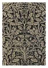 czarno beżowy dywan w kwiaty Oak Indigo 27908