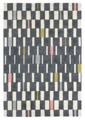 czarno biały dywan geometryczny Blok Flamingo 24105