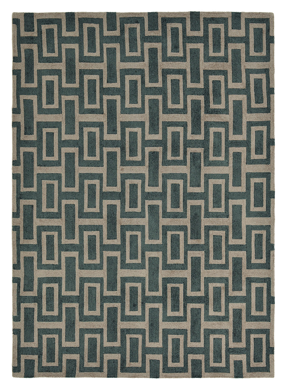 czarno szary dywan geometryczny Intaglio Black 37205