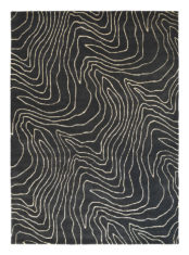 czarny dywan nowoczesny Formation Moonlight 40805