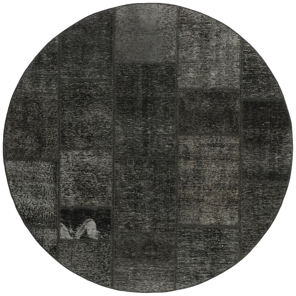 czarny dywan okrągly perski Round Noir 0994