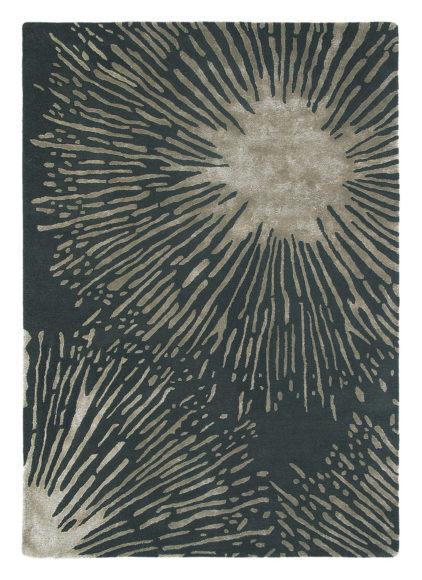 czarny dywan w kwiaty Shore Truffle 40605