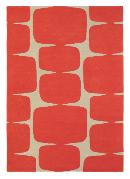 czerwony duwan geometryczny Lohko Poppy 25800