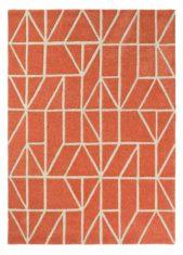 czerwony dywan geometryczny Viso Paprika 24003