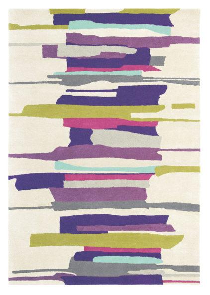 fioletowo beżowy dywan artystyczny Zeal Berry 43005