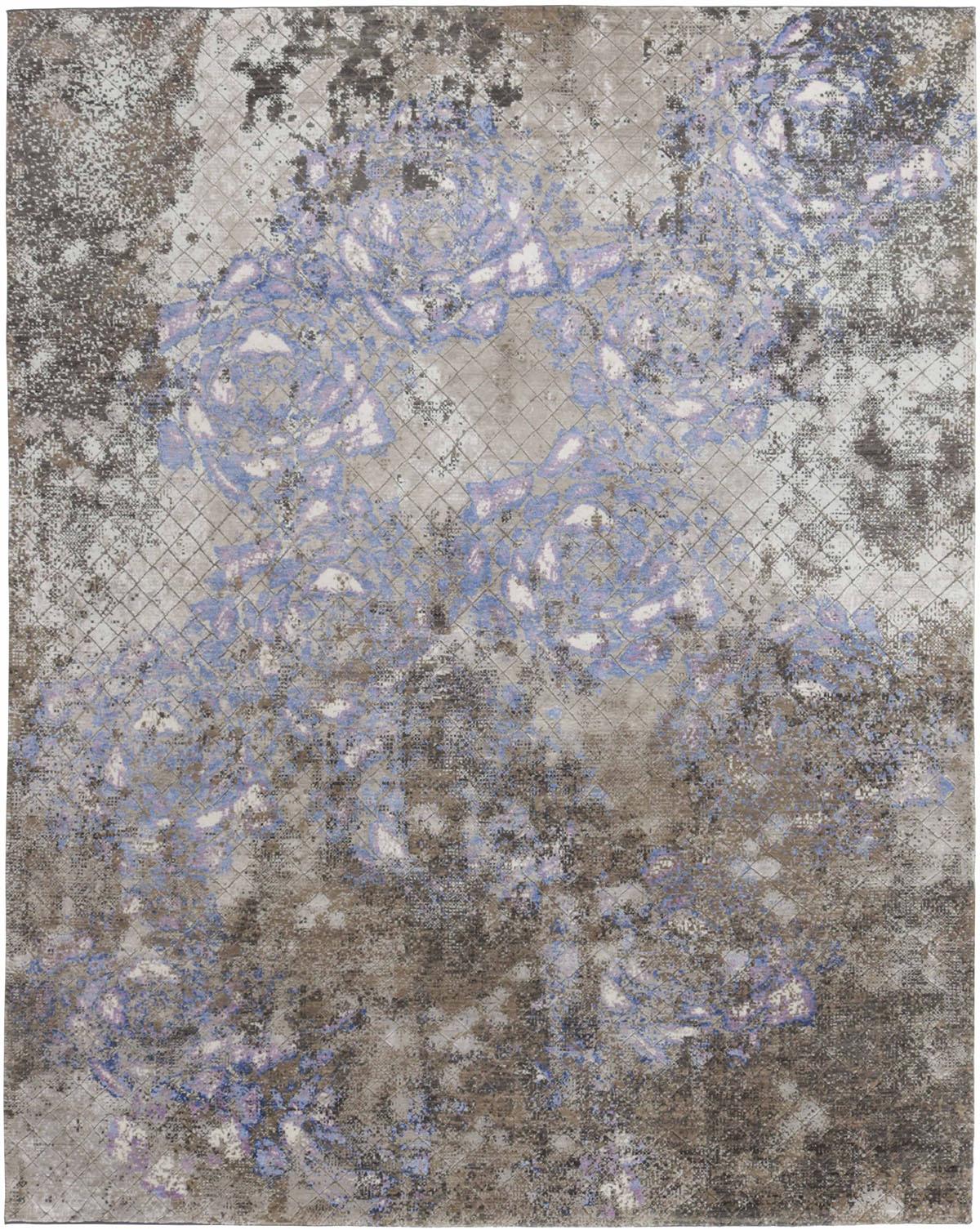 fioletowo szary dywan ekskluzywny Seduction 840178A
