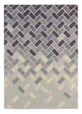 fioletowy dywan geometryczny Agave Ash 57104