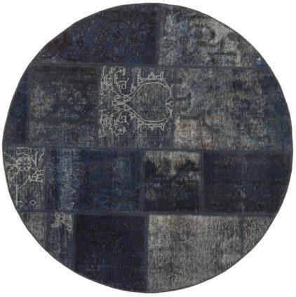 granatowy dywan okrągły perski Round Ink 0991