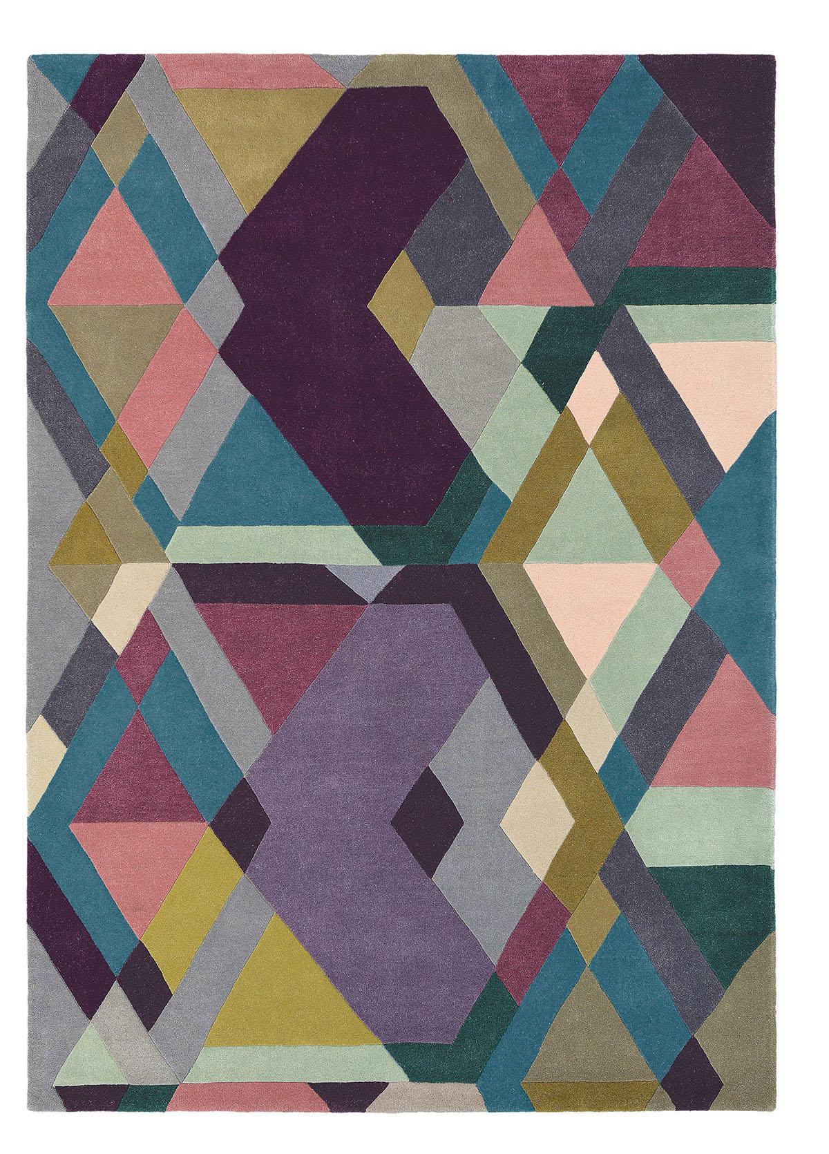 kolorowy dywan geometryczny Mosaic Light Purple 57605