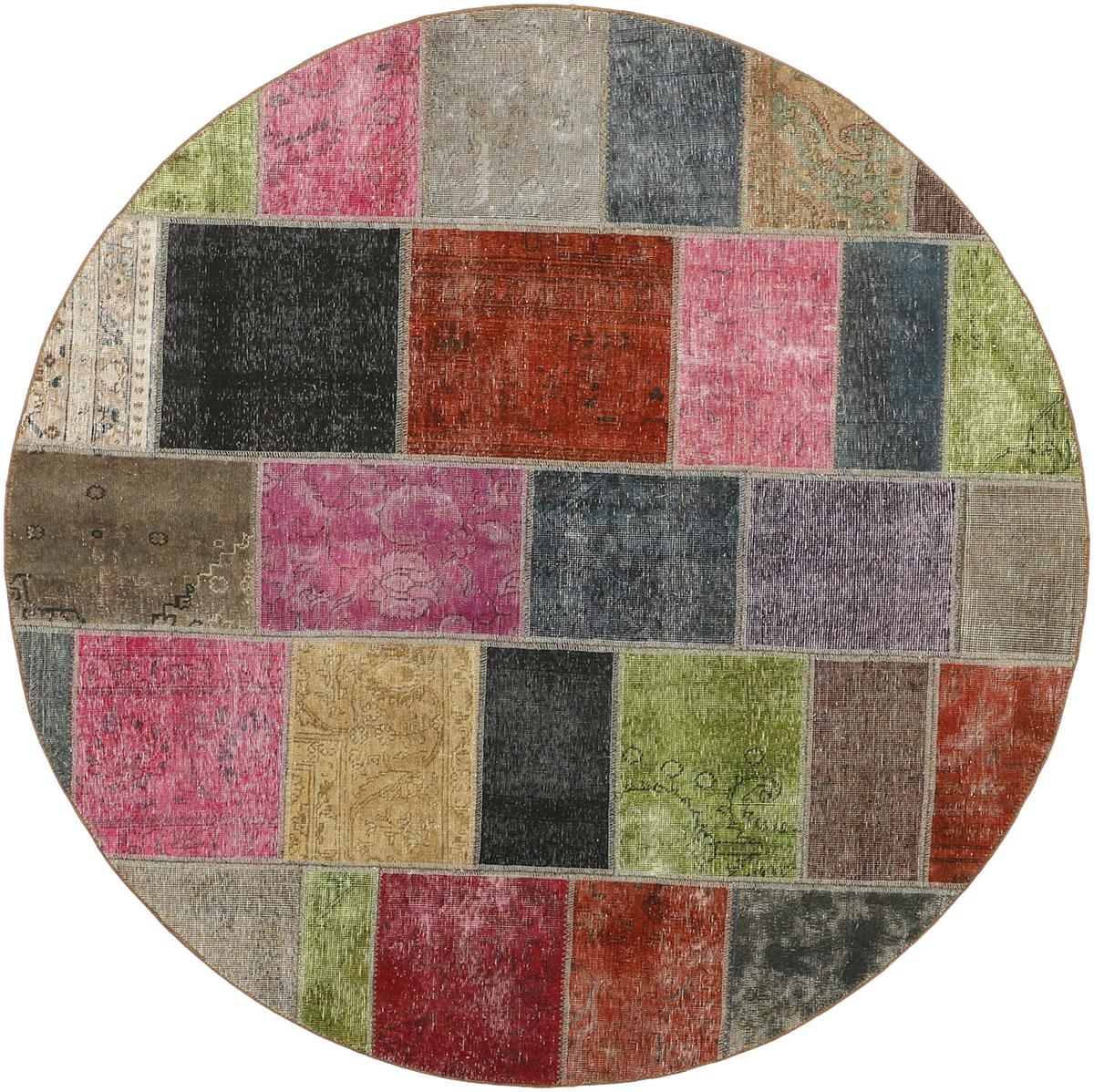 kolorowy dywan okrągły perski Round Multi 0992