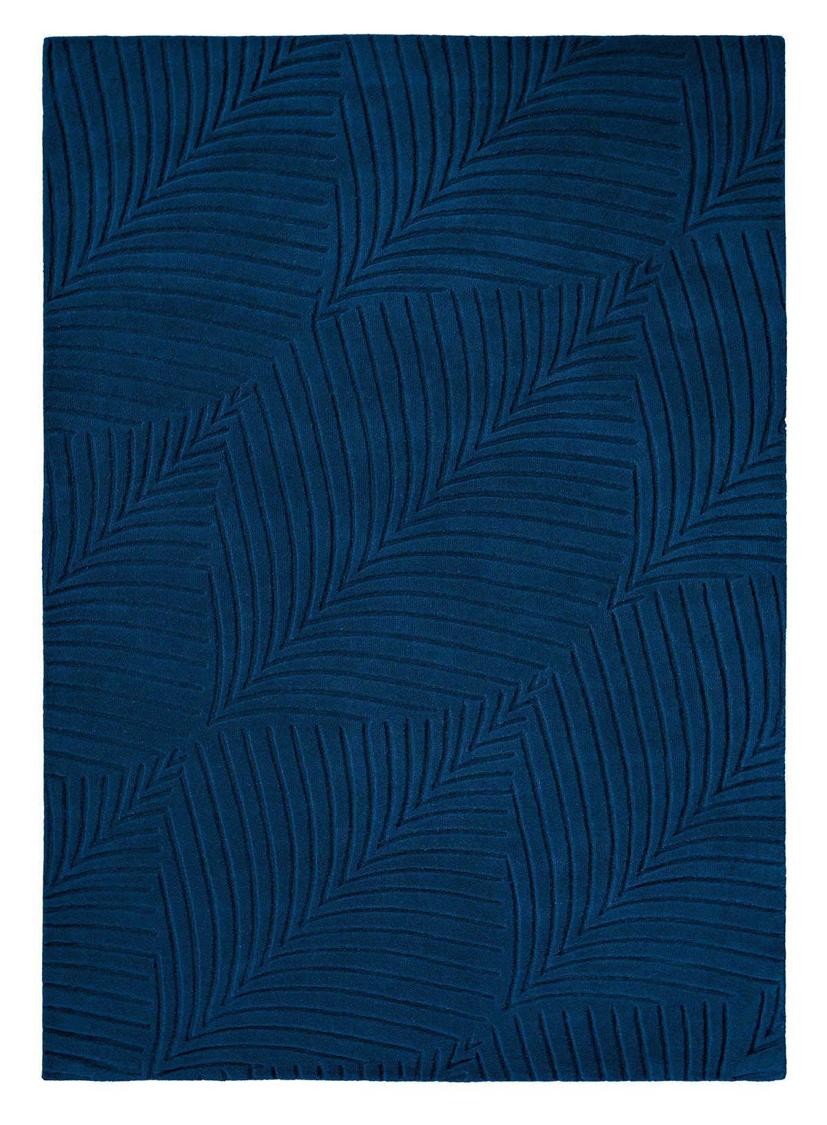 niebieski dywan geometryczny Folia Navy 38308