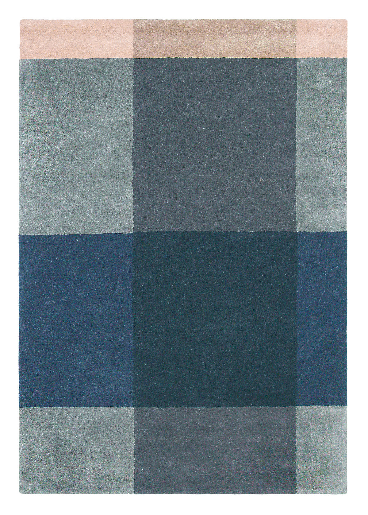niebieski dywan geometryczny Plaid Grey 57804