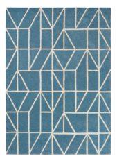 niebieski dywan geometryczny Viso Denim 24008