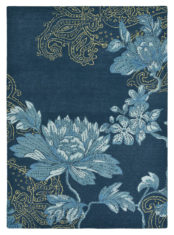 niebieski dywan w kwiaty Fabled Floral Navy 37508
