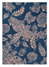 Loran Navy blue floral carpet 56308