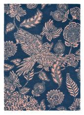 niebieski dywan w kwiaty Loran Navy 56308