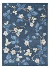 niebieski dywan w kwiaty Wild Strawberry Navy 38118