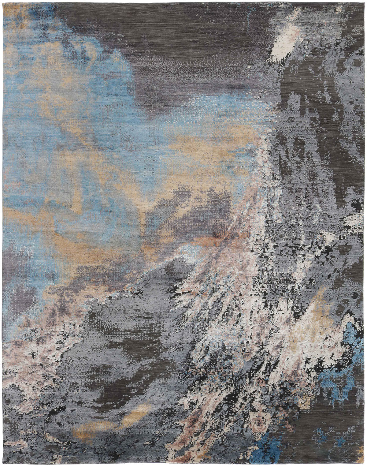 niebiesko szary dywan ekskluzywny Seduction 840233