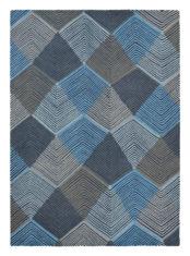 niebiesko szary dywan geometryczny Rhythm Indigo 40908