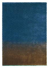 niebiesko złoty dywan nowoczesny Dipgeo Blue 58408