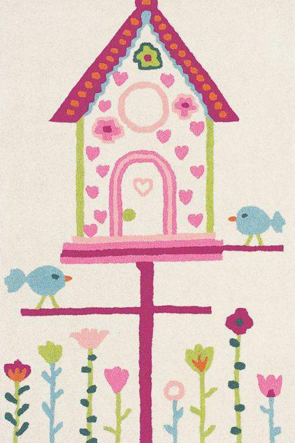 różowo biały dywan dziecięcy Home Tweet Home 42301
