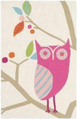 różowo biały dywan dziecięcy What a Hoot 42202